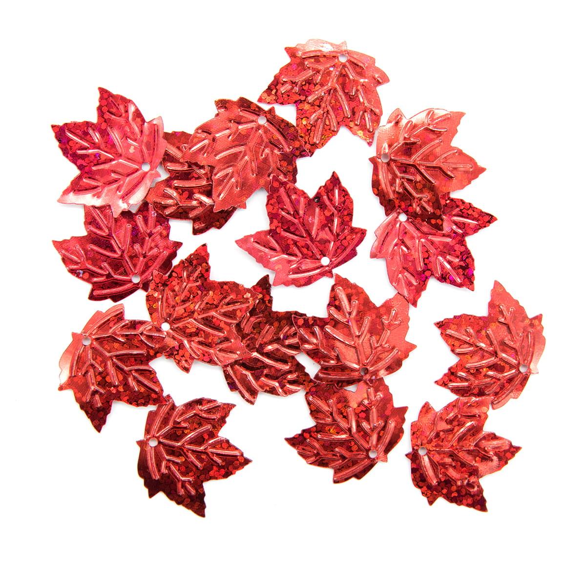 Пайетки 'кленовый лист', 22*22 мм, упак./10 гр., 'Астра'