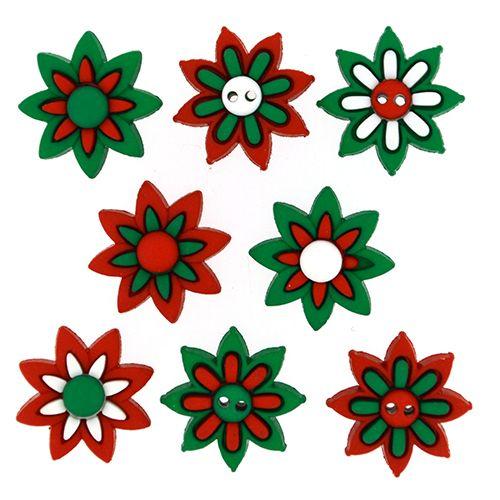 8318, Фигурки. Рождественские цветы Dress It Up