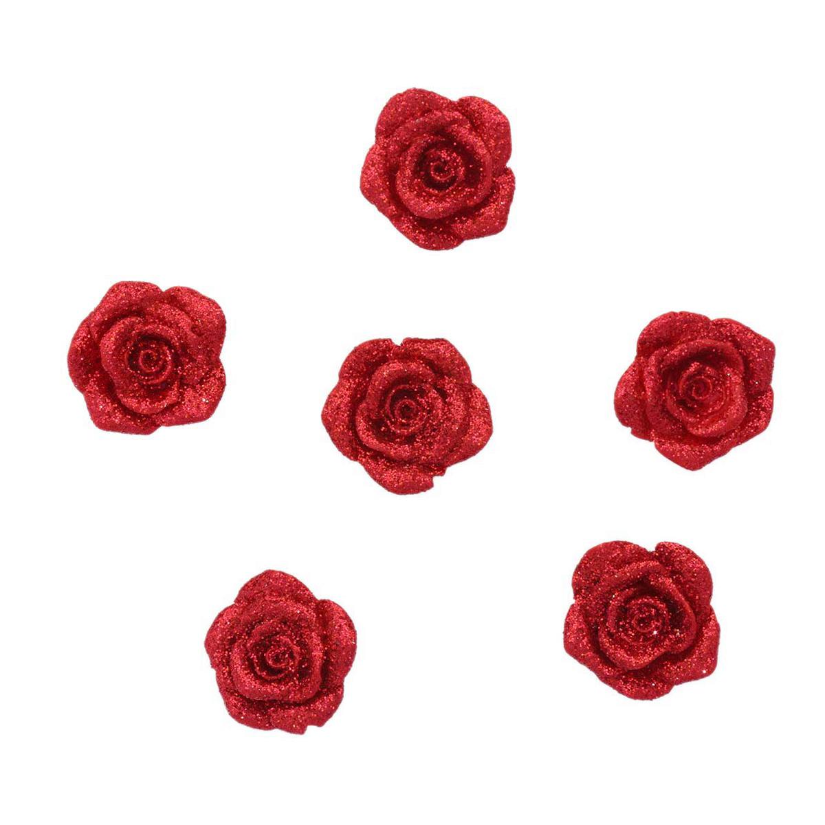 LR15 4617 Объемные фигурки 'Роза' (полимер), 2,5*2,5