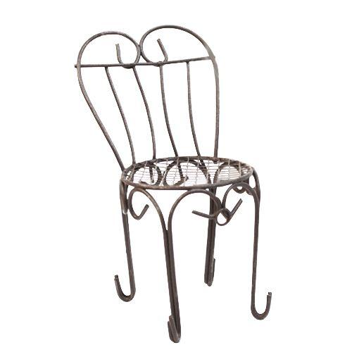 SCB271014 Металлический мини стул с сердцевидной спинкой, 6*7*14 см, ScrapBerry's