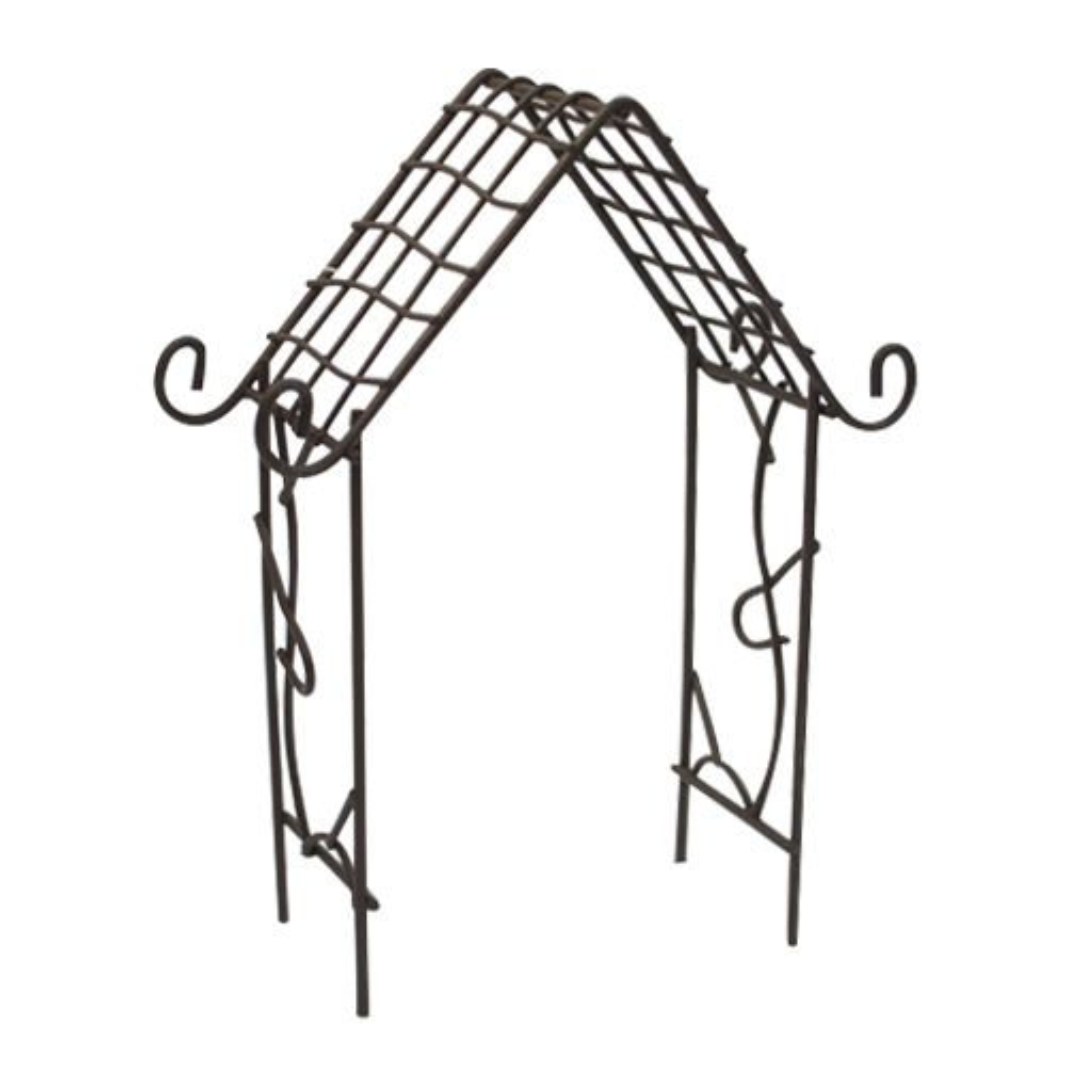 SCB271022 Металлическая мини арка-домик, коричневая, 9,5*15,5 см, ScrapBerry's