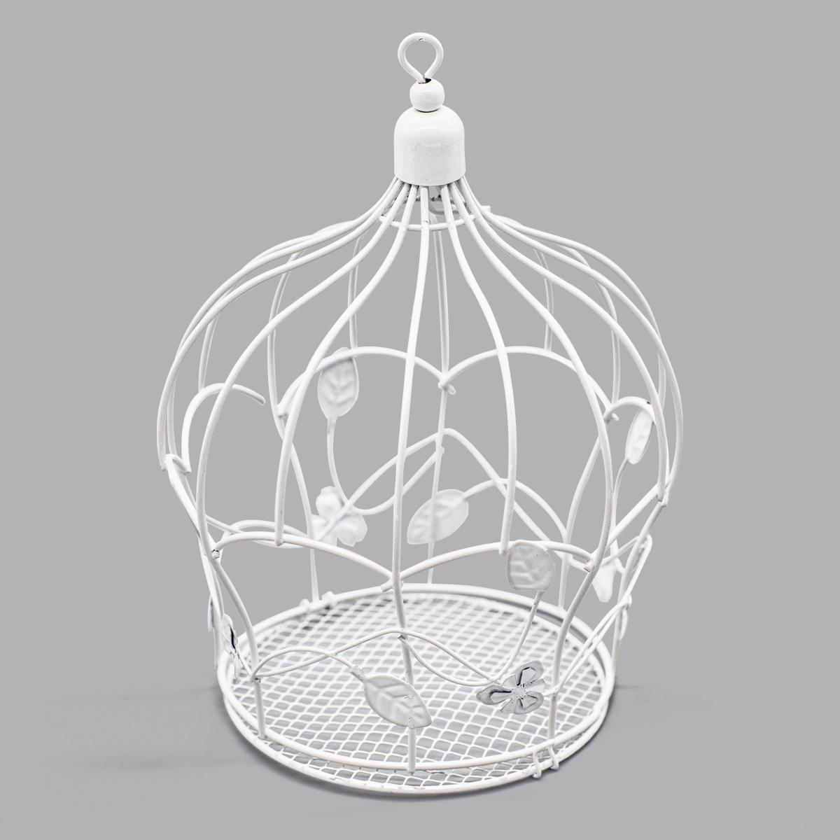 SCB271040 Металлическая клетка-корона, белая, 16,5*21,5 см