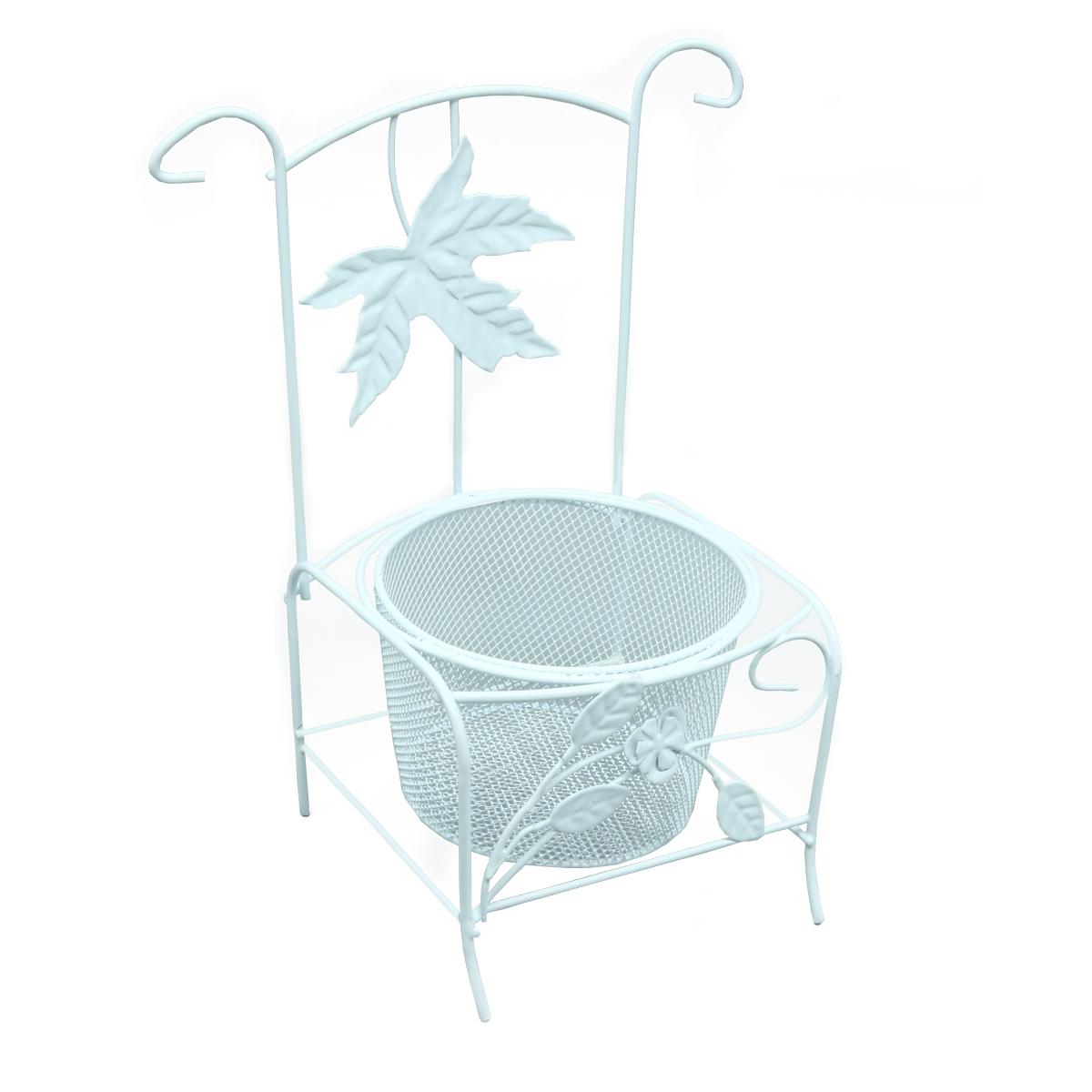 SCB271045 Металлический стул-кашпо, 11,5*10,5*21,5 см, ScrapBerry's
