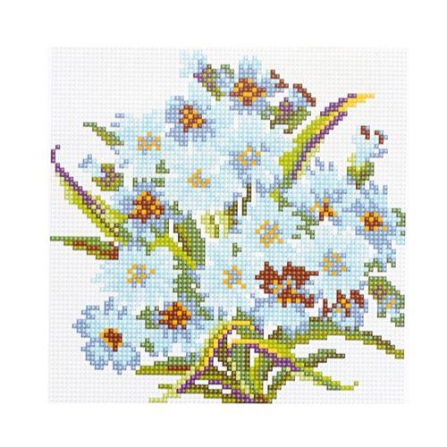 BZ008 Мозаика на деревянной основе 'Букет ромашек', 20*20 см