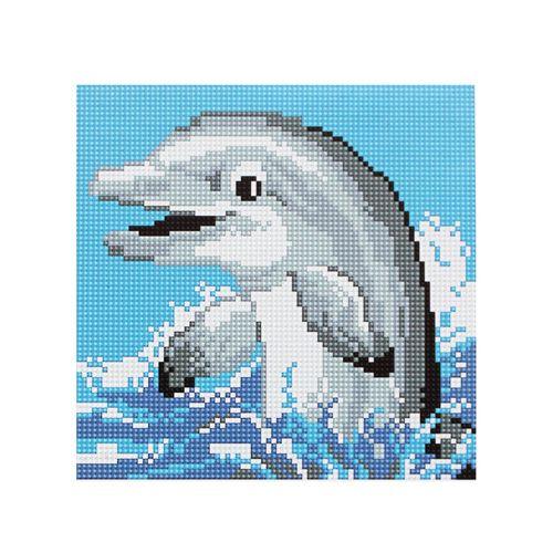 BZ022 Мозаика на деревянной основе 'Дельфин', 20*20 см