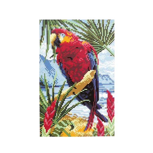 CZ028 Мозаика на деревянной основе 'Попугай', 20*30 см
