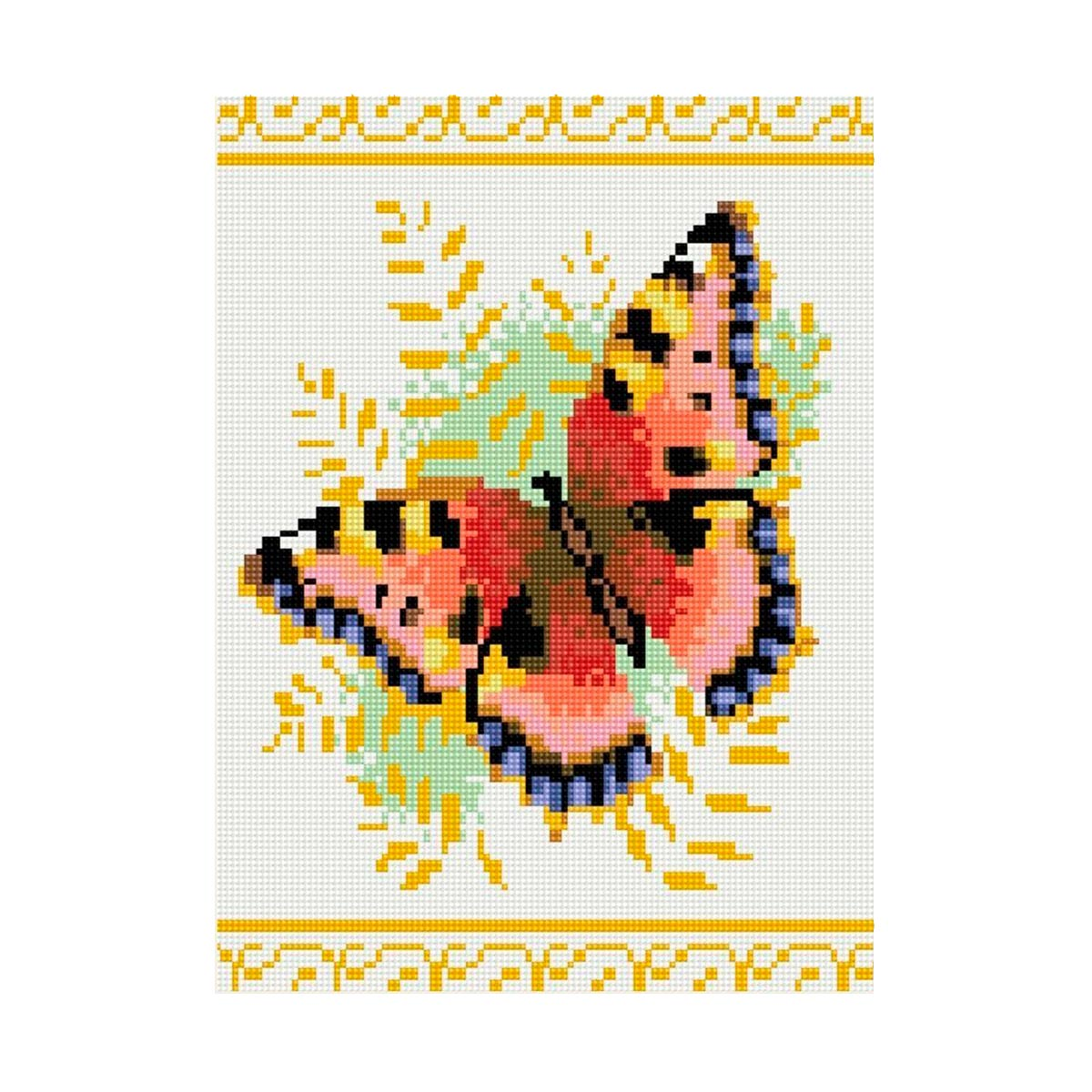 EZ005 Мозаика на деревянной основе 'Бабочка', 30*40 см