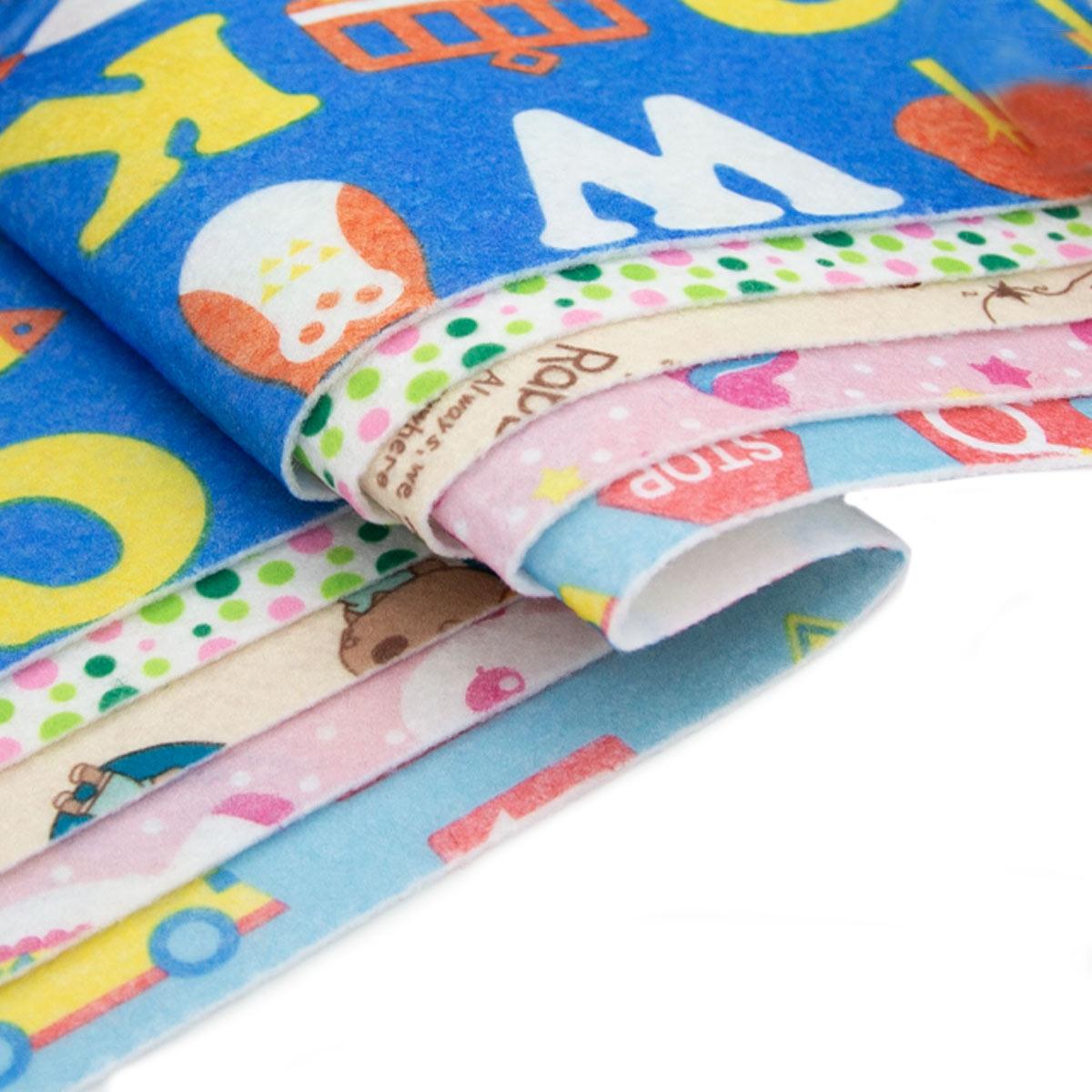 Фетр листовой декоративный 'Дети', ассорти, 1 мм, 180 гр, 20*27 см + 3 см тех. кромка, упак./5 шт., 'Астра'