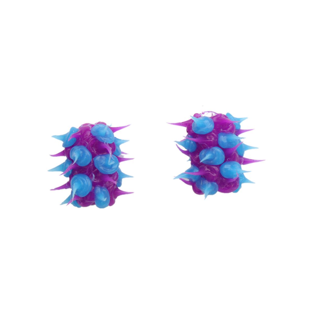 RUB0006 Бусины резиновые с шипами, микс, 8*15 мм, упак./2 шт., 'Астра'