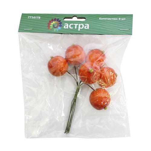 HQX8867 Декоративный букетик 'Апельсины', упак./6 шт., 'Астра'