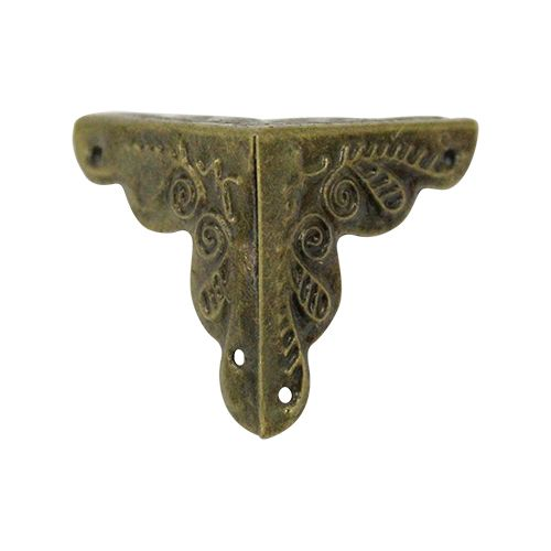 Уголок декоративный для шкатулок 25*25мм, 8шт бронза