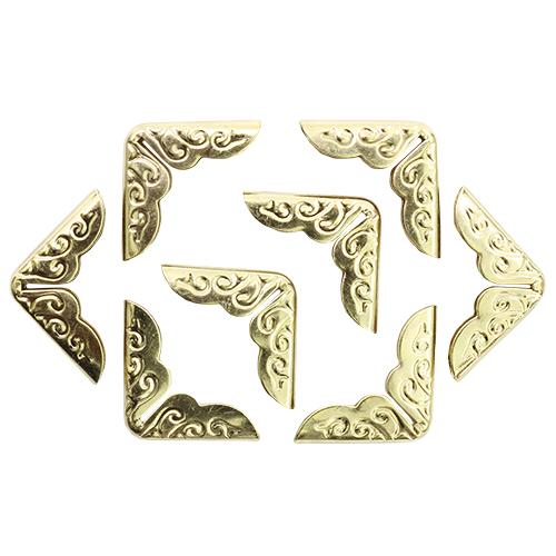 Уголок декоративный для шкатулок 14,5*14,5*3,2мм, 8шт золото