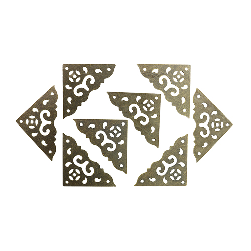 Уголок декоративный для шкатулок 37*37 мм, 8шт бронза