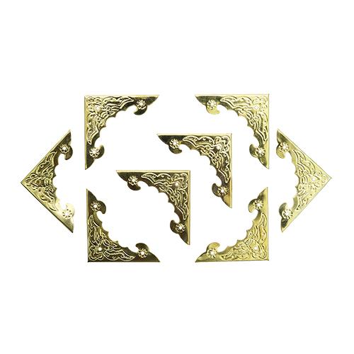Уголок декоративный для шкатулок 40*40 мм, 8шт золото