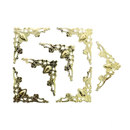 Накладной элемент для шкатулок 40*40 мм, 8шт золото