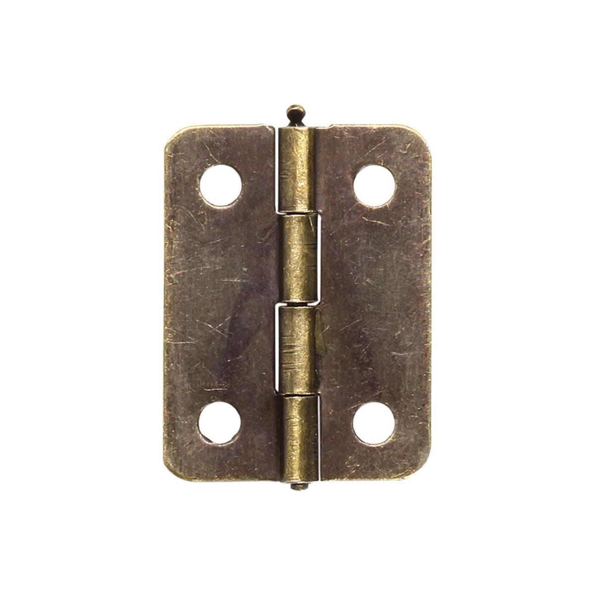Петля для шкатулок 15*24 мм, 2шт бронза