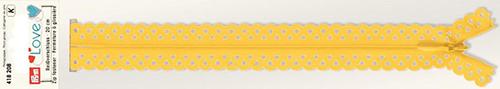 418208 Застежка-молния декоративная Prym Love S11 20cм, желтый цв. 1шт Prym