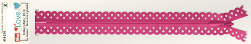 418210 Застежка-молния декоративная Prym Love S11 20cм, розовый цв. 1шт Prym