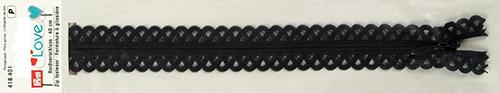 418401 Застежка-молния декоративная Prym Love S11 40cм, графитовый цв. 1шт Prym