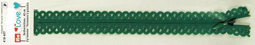 418407 Застежка-молния декоративная Prym Love S11 40cм, темно-зеленый цв. 1шт Prym