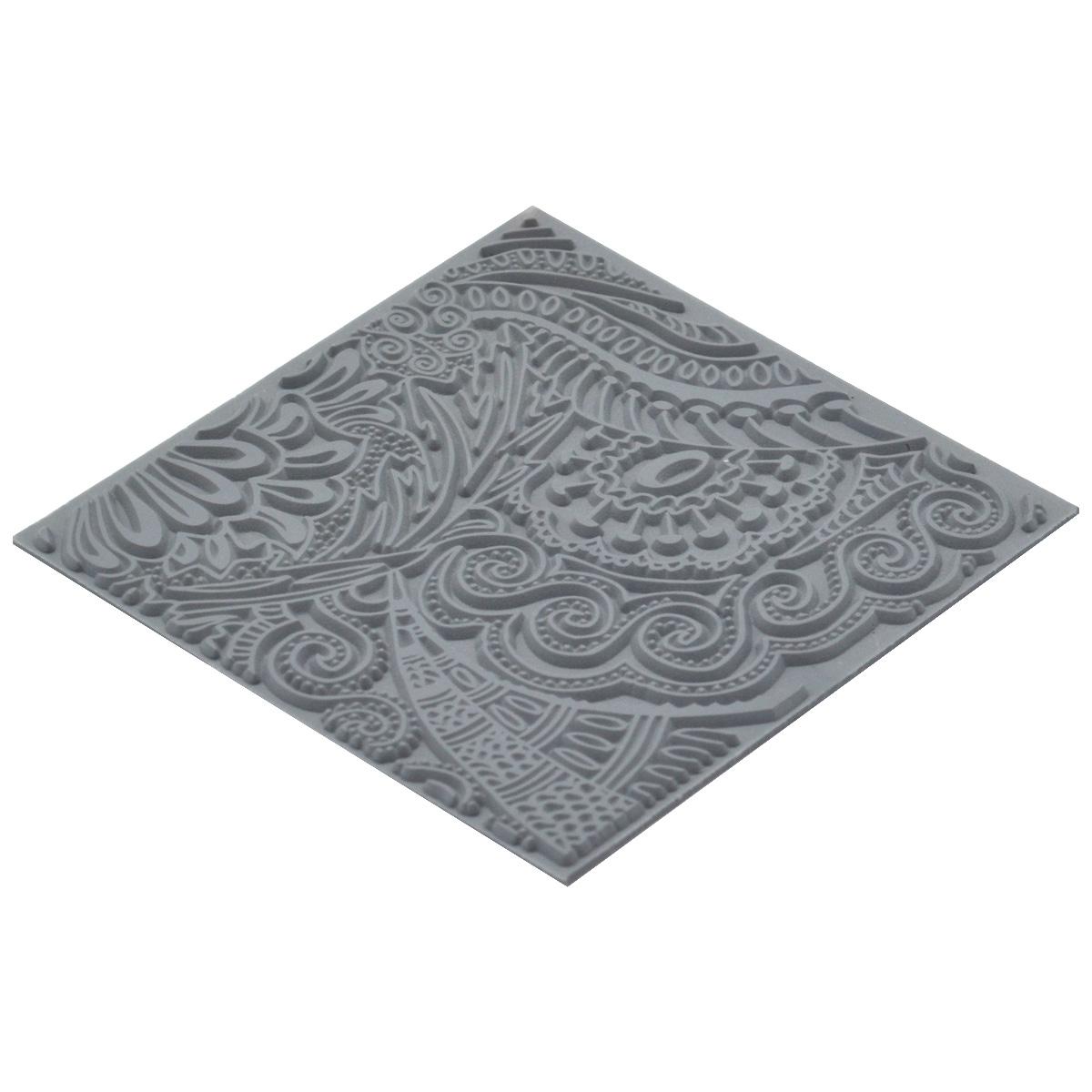 CE95002 Текстура для пластики резиновая 'Моменты', 9х9 см. Cernit