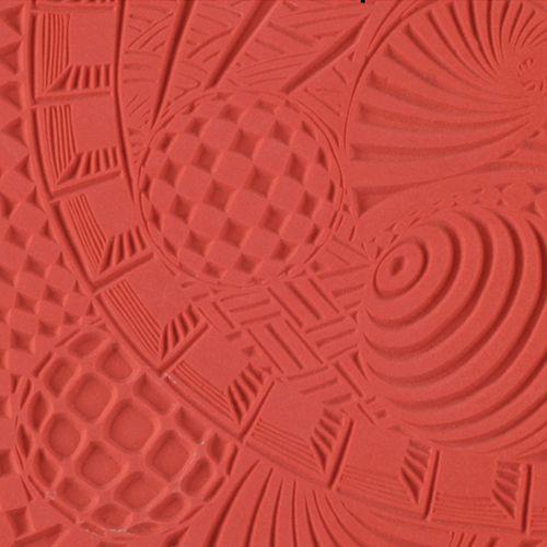 Текстура для пластики резиновая 9х9 см Космос CE95004