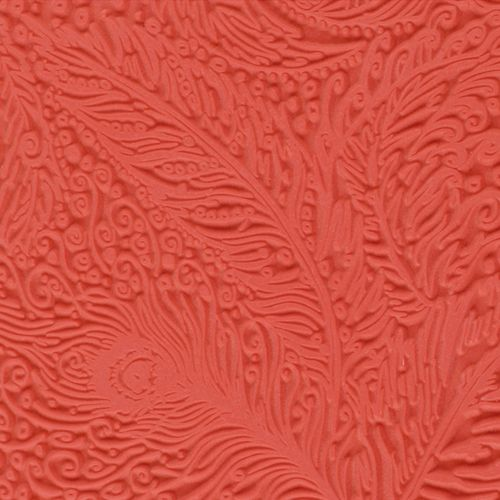 CE95006 Текстура для пластики резиновая 'Павлин', 9х9 см. Cernit
