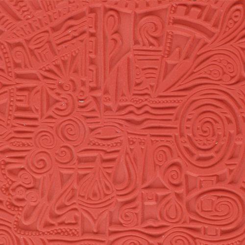 CE95007 Текстура для пластики резиновая 'Деревня', 9х9 см. Cernit