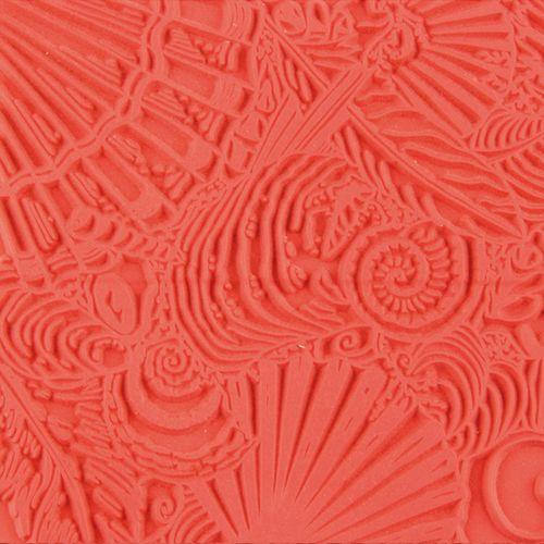 CE95008 Текстура для пластики резиновая 'Ракушки', 9х9 см. Cernit