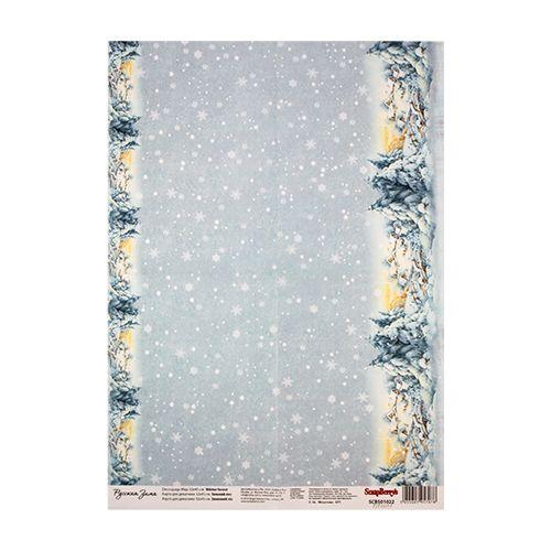 SCB501022 Карта для декупажа 'Зимний лес', 32*45 см, Scrapberry's