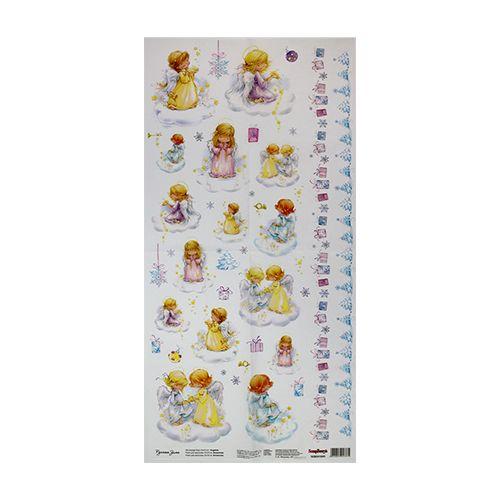 SCB501035 Карта для декупажа 'Ангелы', 35*70 см, Scrapberry's