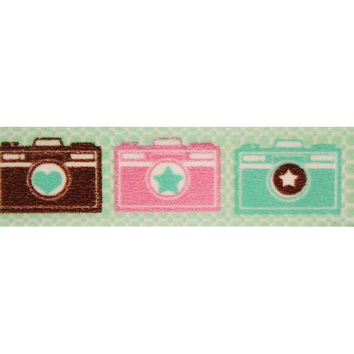 SCB4905002 Бумажный скотч с принтом 'Камера', EveryDay, 15 мм*8 м, ScrapBerry's