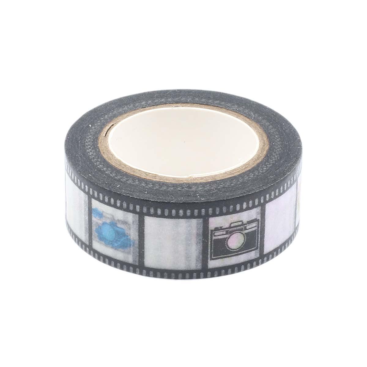SCB4905001 Бумажный скотч с принтом 'Фильм', EveryDay, 15 мм*8 м, ScrapBerry's