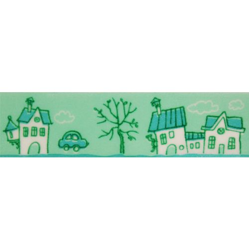 SCB4905007 Бумажный скотч с принтом 'Цветочный узор', Fairy Tale, 15 мм*8 м, ScrapBerry's