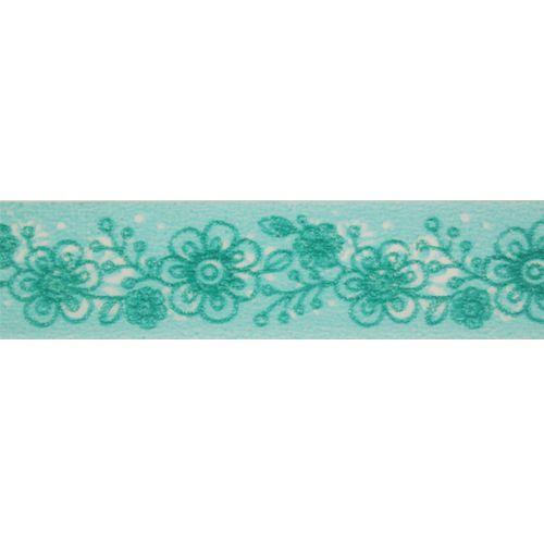 SCB4905018 Бумажный скотч с принтом 'Цветочный узор', Bunny Mi, 15 мм*8 м, ScrapBerry's
