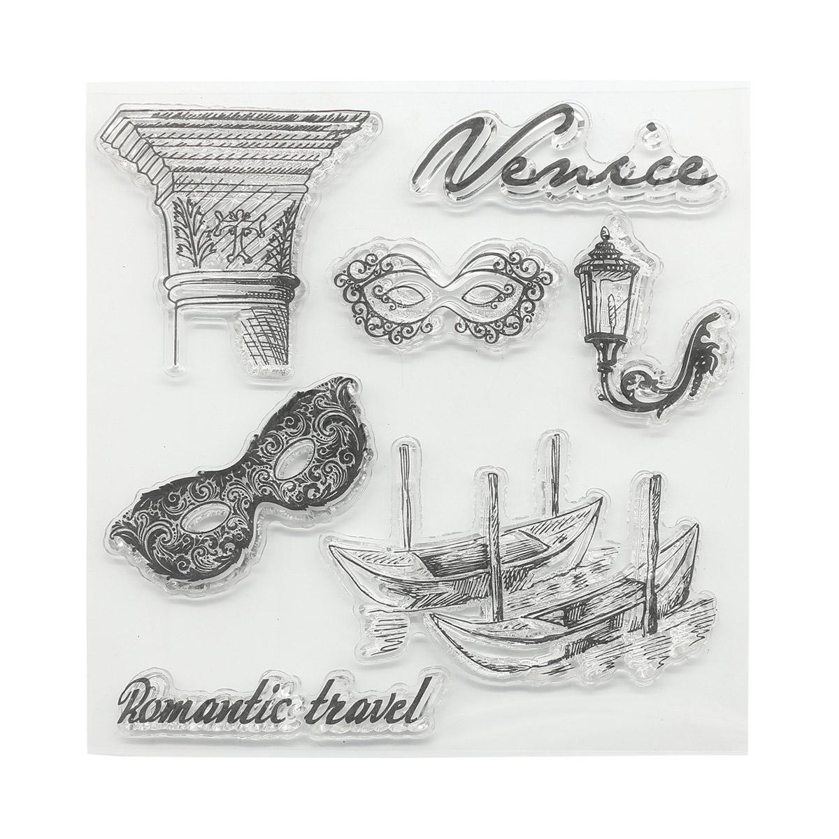 Набор штампов 10,5*10,5см Итальянские каникулы. Венеция (англ.) SCB4904015b
