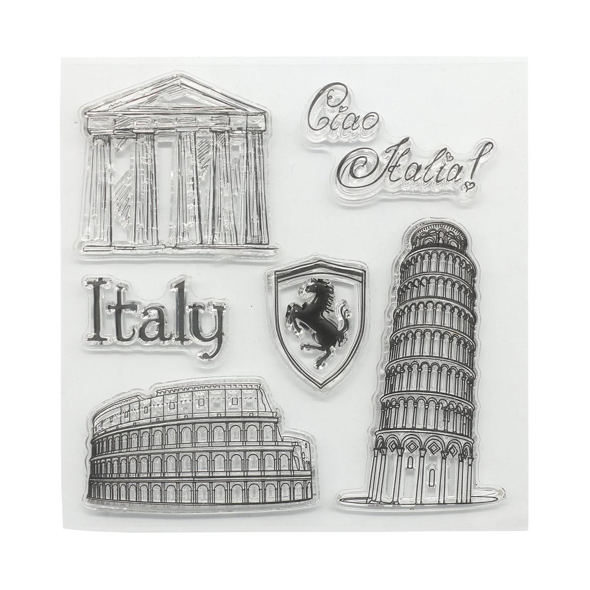 Набор штампов 10,5*10,5см Итальянские каникулы. Италия (англ.) SCB4904013b