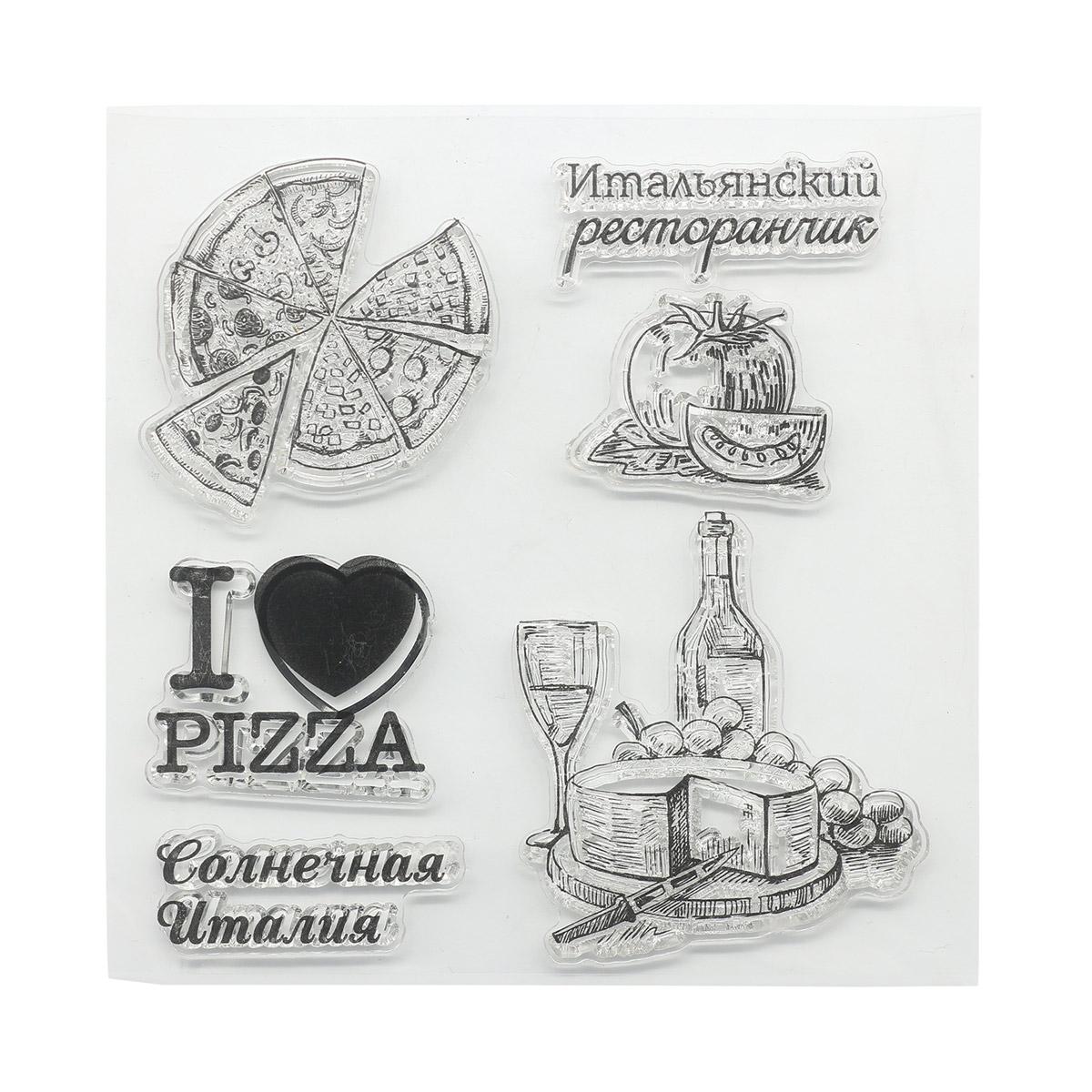 Набор штампов 10,5*10,5см Итальянские каникулы. Меню SCB4904014