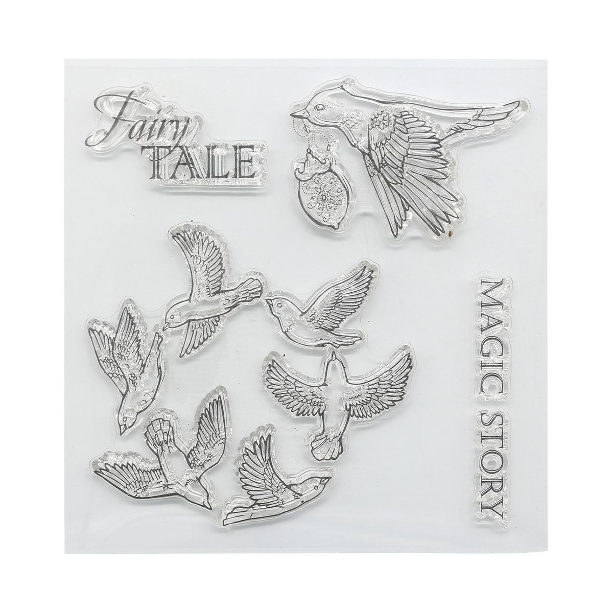 Набор штампов 10,5*10,5см Сказка про фей. Волшебная история (англ.) SCB4904012b