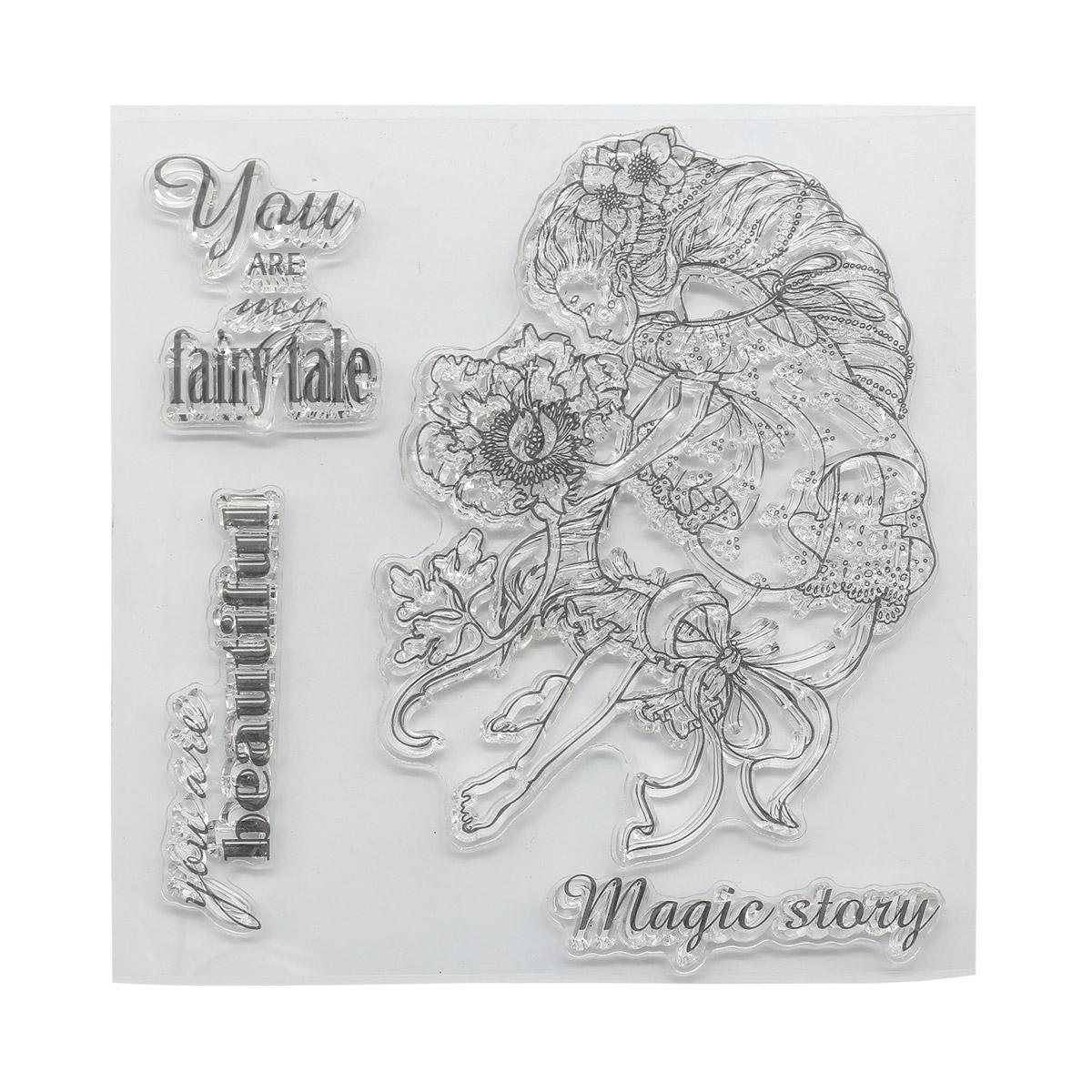 Набор штампов 10,5*10,5см Сказка про фей. Ты - моя сказка (англ.) SCB4904011b