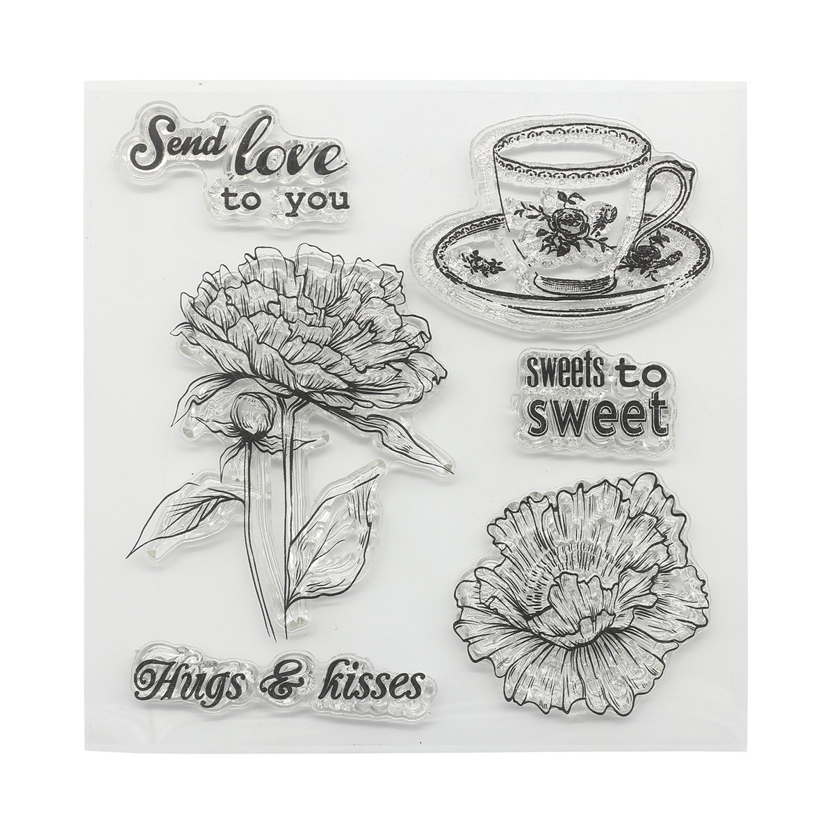 Набор штампов 10,5*10,5см Сладости. Сладкое для сладкоежки (англ.) SCB4904005b