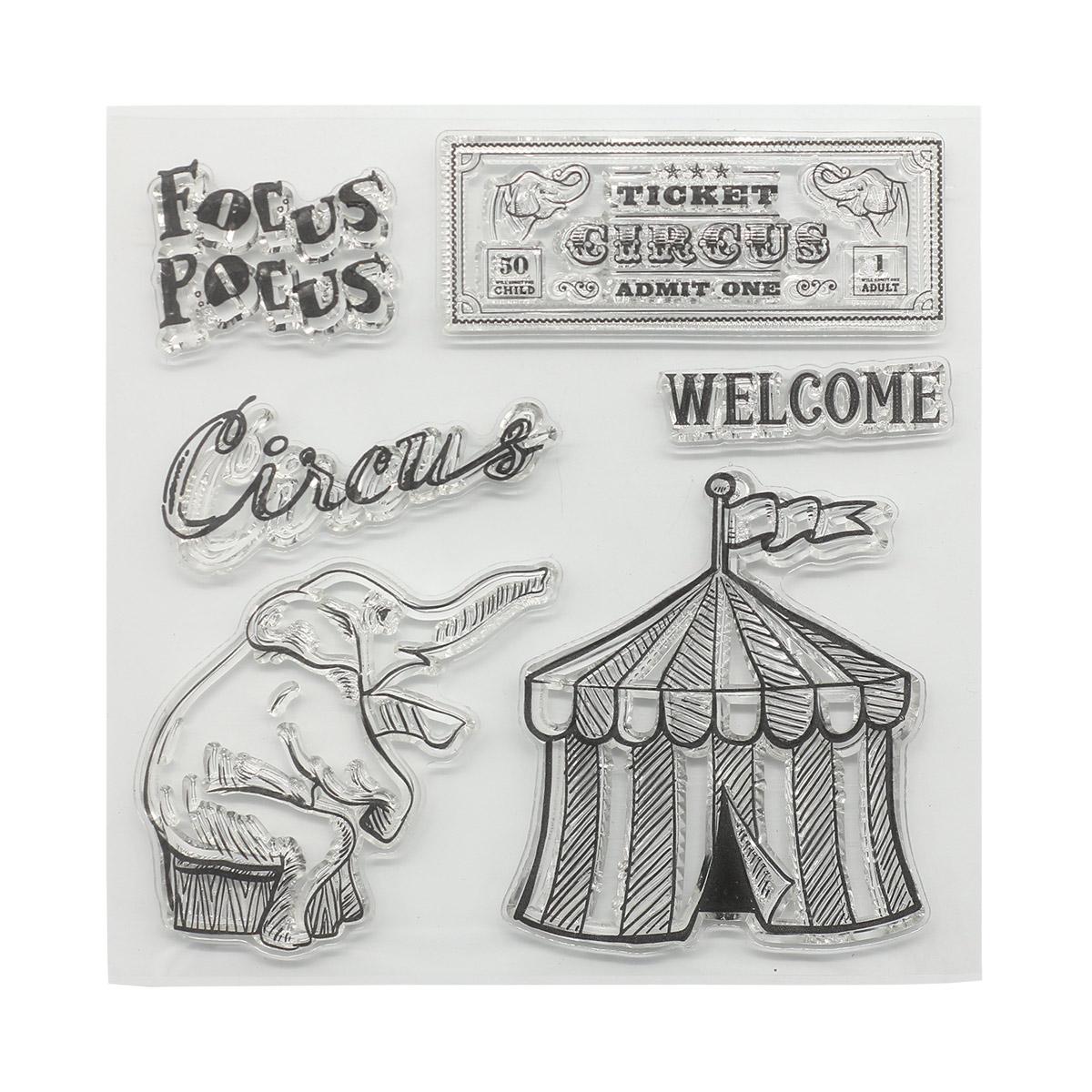 Набор штампов 10,5*10,5см Старый цирк. Фокус-покус (англ.) SCB4904023b