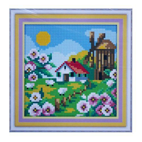 1877 Мозаика Cristal 'Деревенская мельница. Весна', 15*15 см
