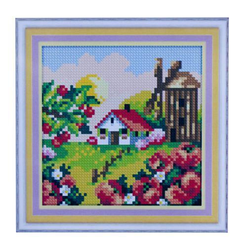 1879 Мозаика Cristal 'Деревенская мельница. Лето', 15*15 см