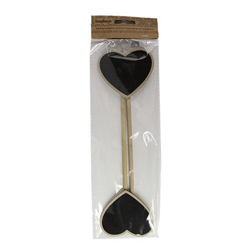 SCB26003006 Набор меловых сердечек-вставок, 6,5х5,5х22 см, упак./2 шт., ScrapBerry's