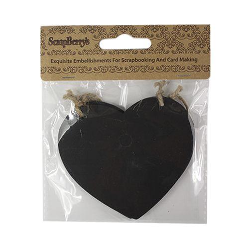SCB26003005 Набор меловых сердечек, 8,5х7 см, упак./2 шт., ScrapBerry's