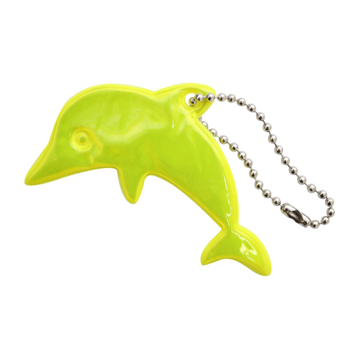 Светоотражающая подвеска 'Дельфин', 7 см, упак./2 шт. (желтый)