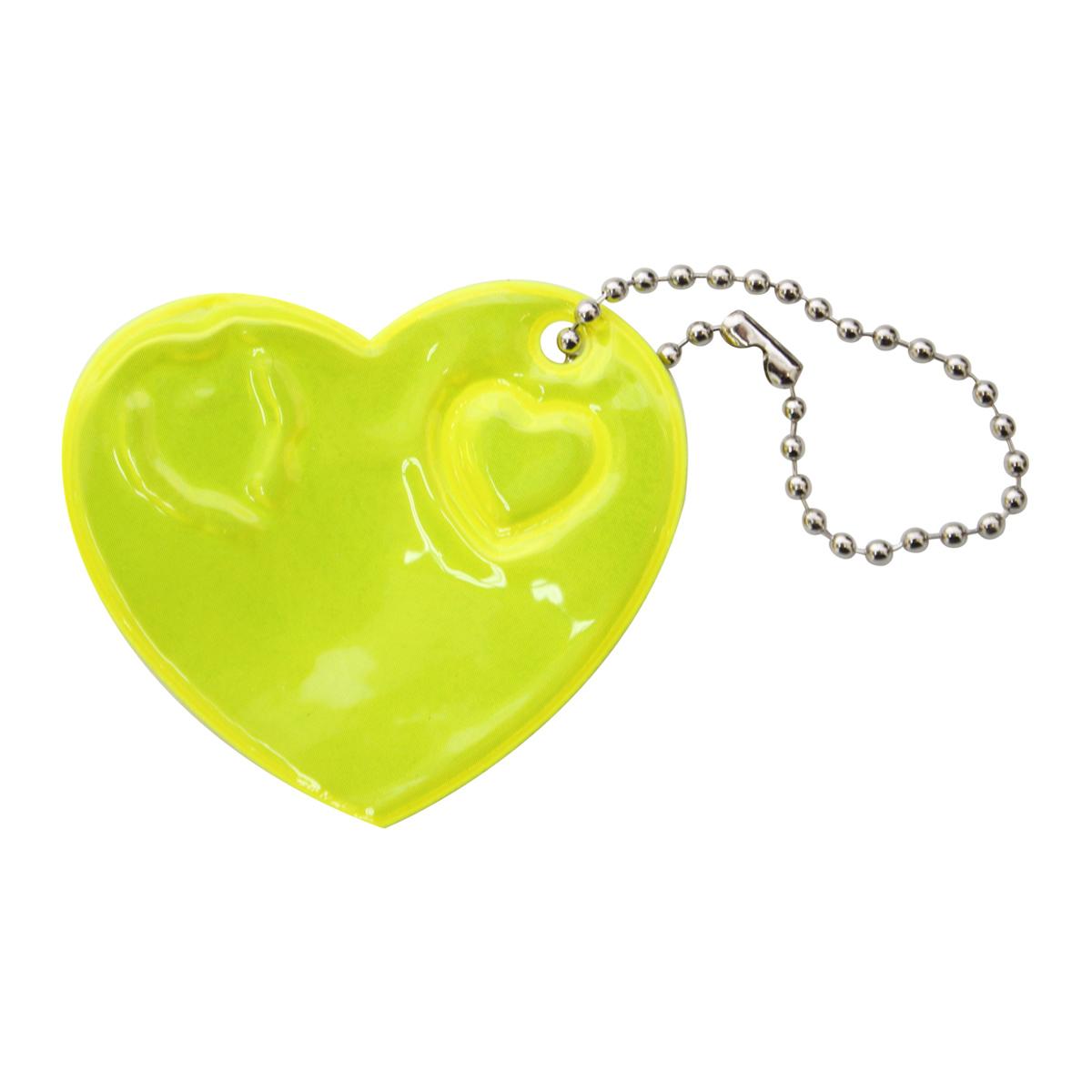 Светоотражающая подвеска 'Сердце', 6 см, упак./2 шт.