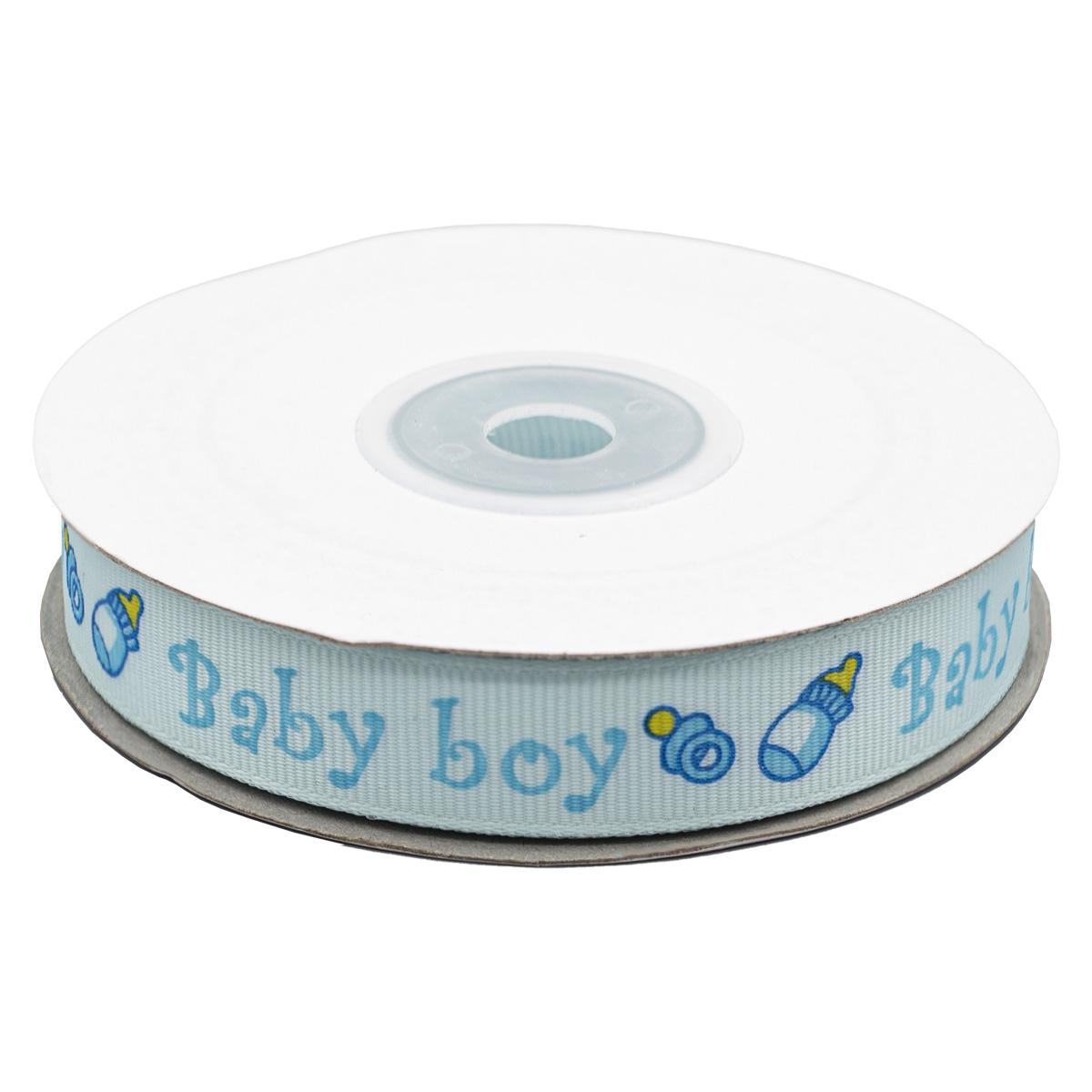 Лента репсовая 'Baby-boy' 1,5см*22,86м