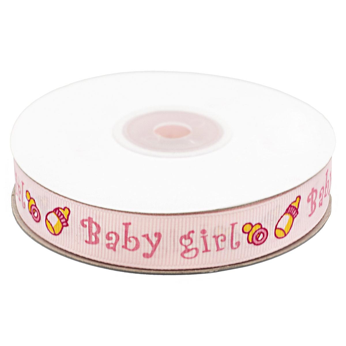Лента репсовая 'Baby-girl' 1,5см*22,86м